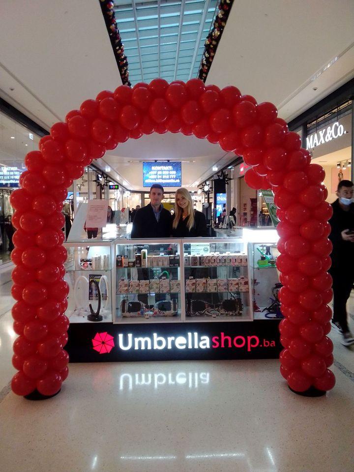 Umbrella shop, eko cigarete, delta planet