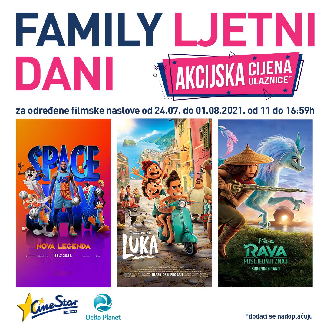 Delta Planet, Cinestar, Family ljetni dani